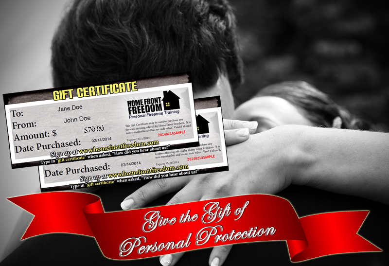 Gift Certificates For Firearms Training Home Front Freedom
