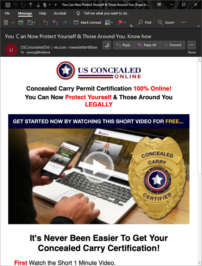 CCW Scam